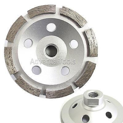 "7//8/""-5//8/"" Arbor 5"" Single Row Concrete Diamond Grinding Cup Wheel"