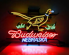 "New Budweiser Nebraska Pheasant Neon Sign 24""x20"" Ship From USA"