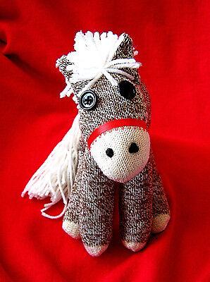 Sock Monkey Horse Pony Red Maned Brown