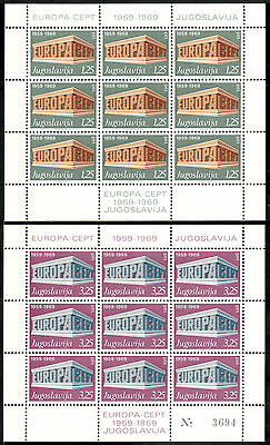 Weich Und Leicht Genossenschaft Jugoslawien Kleinbogen Michelnummer 1361-1362 I Postfrisch klbg 1209