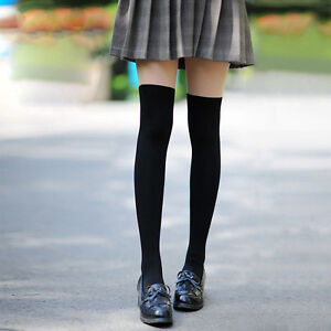 Mock-Over-The-Knee-Thigh-High-Lady-Girl-Sexy-Sheer-Stocking-Pantyhose-Tights-Hot