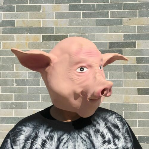 Brand Natural Latex Pigsy Pig Full Face Cosplay Halloween Mask Props CJ116