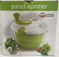 4 Qt Deluxe Salad Spinner Bowl Locking Lid, New, Free Shipping