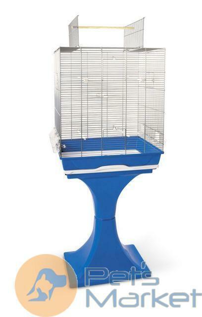 Pets Gabbia voliera per uccelli pappagalli Ambra aperta con supporto cm 56,5x36,