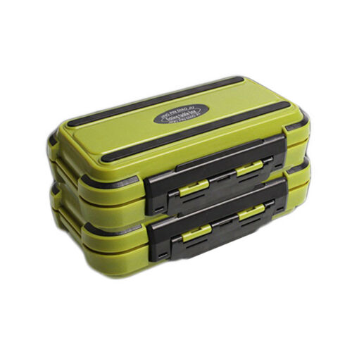 24 Compartment 2 Layer Waterproof Fishing Lure Bait Tackle Storage Box Case HK