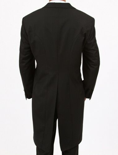 Men/'s Slim Fit Tail Tuxedo Tailcoat Jacket Formal Tux Tails Suit in Black-White