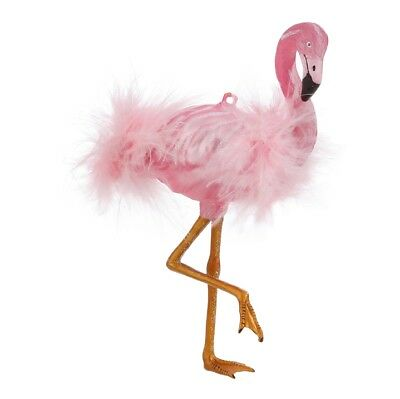 "NEW!~RAZ Imports~6.5/"" Glass Beach Pink Feather Flamingo Ornament~Christmas~tree"