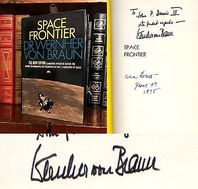 Space Frontier HAND SIGNED by Wernher Von Braun! NASA Saturn V Rocket! VERY Rare