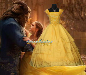 Image Is Loading 2017 Belle Yellow Dress Gown Beauty And The
