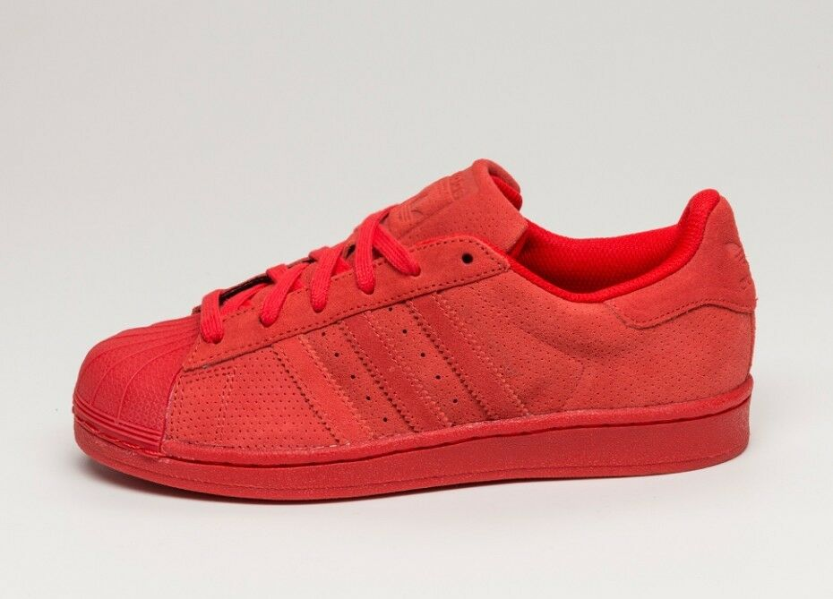 Adidas Superstar RT Red Mono Suede S79475 100% Authentic