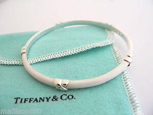 Image Is Loading Tiffany Amp Co Silver White Enamel Signature X