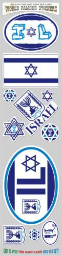 Israel 11 stickers set flag Israeli decal bumper stiker car auto bike laptop