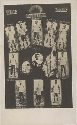 FOOTBALL OLYMPICS URUGUAYOS CAMPEONES FULL CHAMPION TEAM 1924 MULTIPLE VIEW FOTO