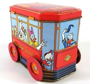 Vintage-Tin-Can-Disney-Container-Donald-Tram-Co-A935