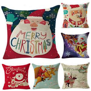PM-Christmas-Santa-Pillow-Case-Cushion-Cover-Home-Sofa-Bed-Car-Decor-Healthy