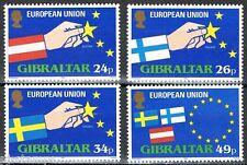 Gibraltar 1995 706-709  Zweden-Finland-Oostenrijk treden toe tot EU