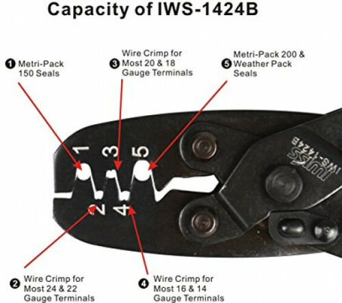 Wire Crimper For Delphi Metri-Pack 1 IWISS Weather Pack Terminal Crimping Tool