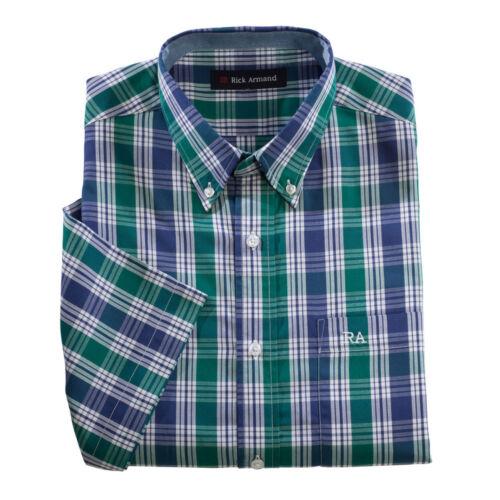 Chemise Décontracté Manches Courtes Carreaux à Carreaux Chemises facile à nettoyer