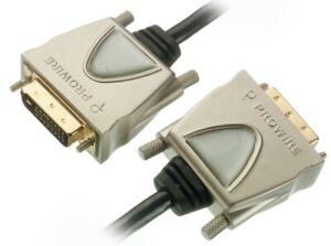 PROWIRE-HQ-5m-DVI-Kabel-DVI-D-Dual-Link-fuer-PC-TFT-TV-LED-LCD-Plasma-Beamer-etc