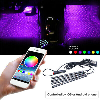 RGB LED Strip Interior Footwell Atmosphere Light Bluetooth for Phone App Control