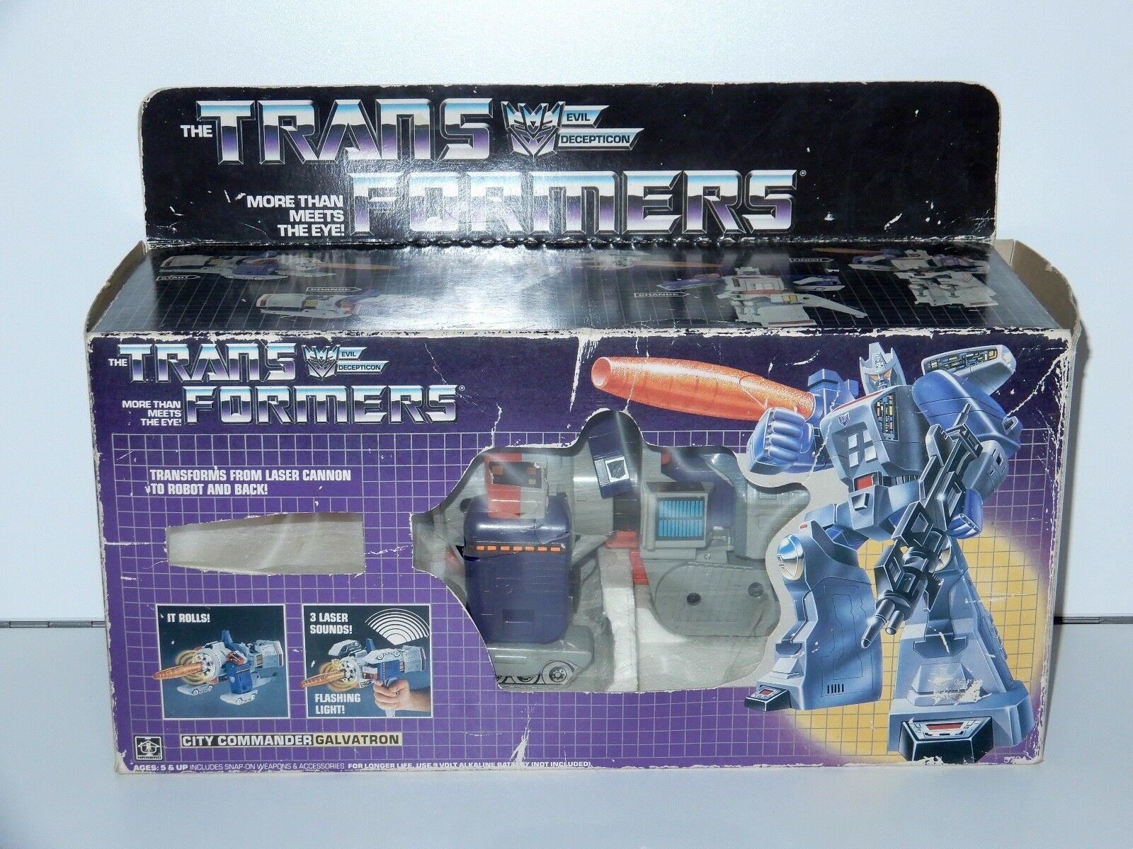 TRANSFORMERS G1 LEADERS GALVATRON 100% COMPLETE IN ORIGINAL BOX 1980s HASBRO