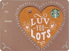 """STARBUCKS CARD aus Deutschland / from Germany 2017 """"Love you Lots"""""""