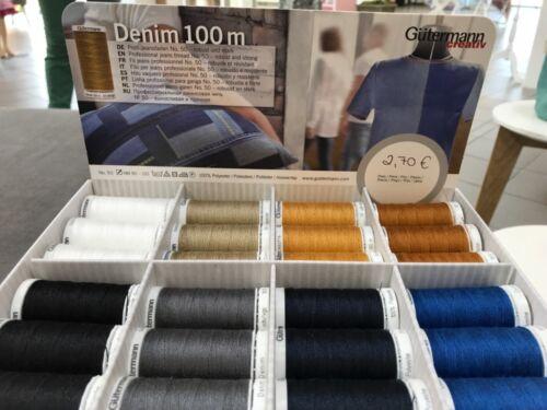 Gütermann COL.1000 schwarz Denim 100 Profi Jeansfaden
