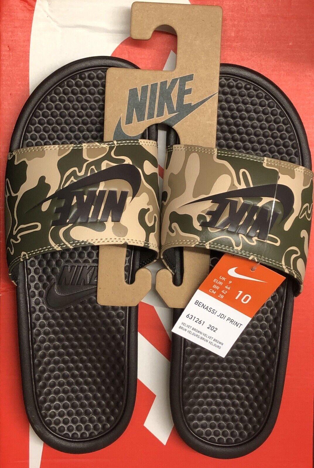 Nike Benassi JDI PRINT Mens Slide UK 9 EUR 44 US 10 Camo New With Tags