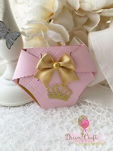Baby Shower Rose Diaper Invitation