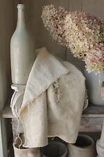 Washed linen TWILL old Antique hemp material Upholstery fabric 73 in  X 23 WIDE