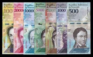 B-D-M Venezuela 500 1000 2000 5000 10000 20000 100000 Bolívares 2016-2017 SC UNC 8daA5zti-07140845-387166544