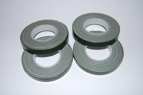 FOUR x Green Florist POT tape 9mm x 10m rolls Tool box essential for floriists