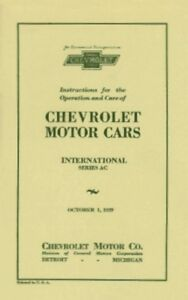Other Car Manuals CHEVROLET 1929 Car Owner's Manual 29 Chevy ...
