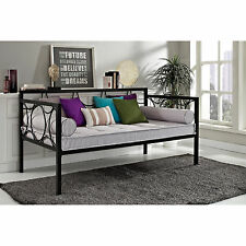 Black Circle Pattern Frame Day Bed Home Living Room Bedroom Seating Furniture