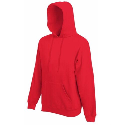 Fruit of the Loom Classic Hoodie Hooded Sweatshirt Adults New  S M  L XL 2XL New
