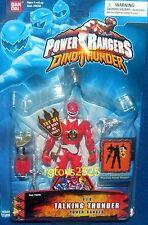 """Power Rangers Dino Thunder RED Ranger Talking New 5"""" Factory Sealed 2004"""