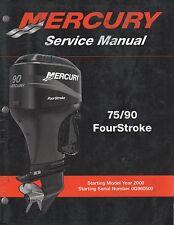 2000 mercury service manual 75 90 four stroke ebay rh ebay co uk mercury 90hp four stroke manual mercury 90 four stroke manual