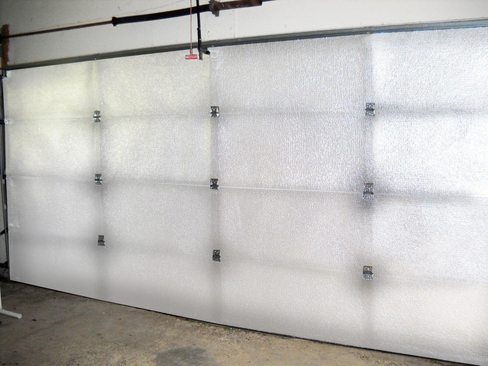 NASATECH 2 Car 5 Panel Double Garage Door Insulation Kit (16x8 18x8) (180sqft)