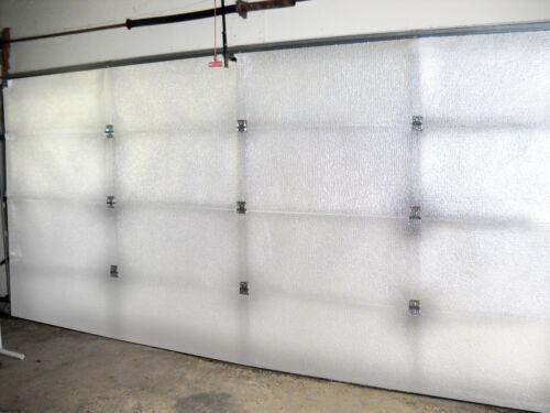 NASATECH White Pre-cut 20 Panel 2 Car Garage Door Insulation Kit Reflective Foam
