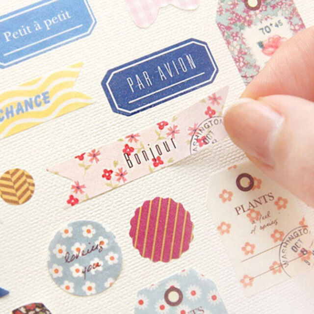 8pcs/set Romance Forest Story Paper Stickers Scrapbook Diary Planner Decoration