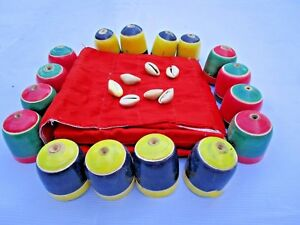 TRADITIONAL-ANCIENT-INDIA-CHESS-TYPE-CHAUPAR-CHAUSAR-LUDO-CLOTH-BOARD-GAME