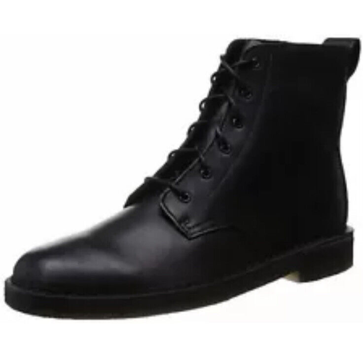 New Clarks Originals UK 12 G/ EU 47 Desert Mali Black Men's Boots US 13 Boxed