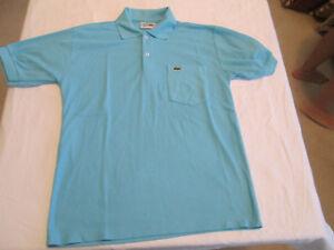 d35ebcb61d1e8 Details about VINTAGE Chemise Lacoste Mens Polo Shirt Short Sleeve  Crocodile Size 5 M Blue VTG