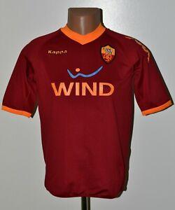 AS-ROMA-Italie-2009-2010-Home-Football-Shirt-Jersey-Kappa-Taille-Xl-Kids