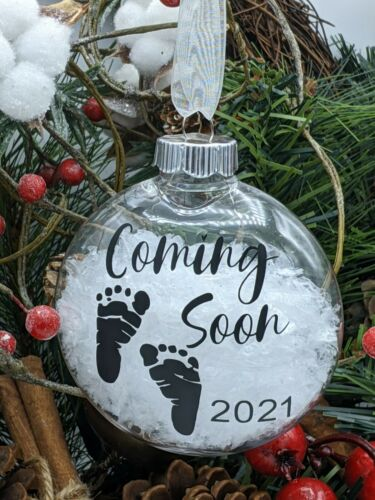 Baby Coming Soon 2021 Christmas Ornament Baby Announcement