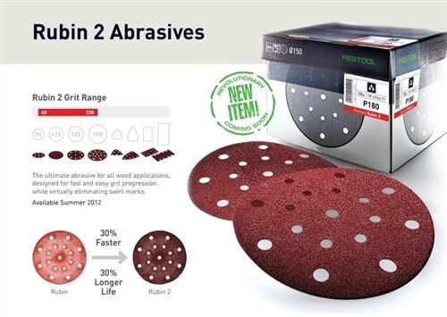 50 Festool Sanding Discs90 STF D90//6 P120 RU2//50RUBIN 2 Rotex RO499081