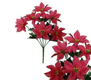 Lot of 144 hot pink poinsettia 14 bush christmas decor artificial image is loading lot of 144 hot pink poinsettia 14 034 mightylinksfo