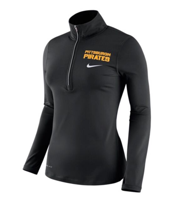 reputable site a860e a2afa Pittsburgh Pirates Nike Dri-Fit MLB Women s L Element Half Zip Pullover