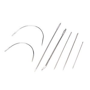 12pcs Steel Stitching Needles Canvas Sewing Leather Patch Craft
