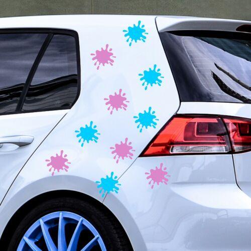 10 Pegatinas de Pintura Splat salpicadura coche Calcomanías